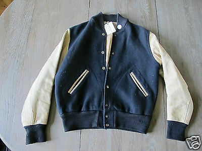 Vintage '50 wool & leather car coat RRL