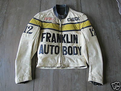 Vintage '70 ABC Leather Biker Racer Harley Jacket