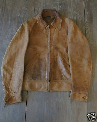1930's  Leather Jacket Original