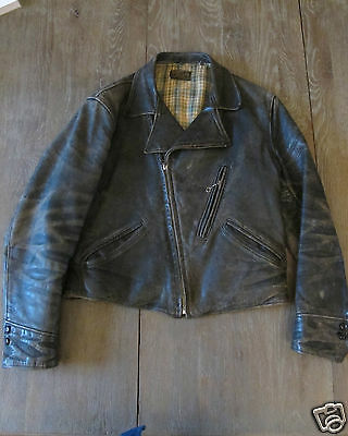 VINTAGE 30s G.C. PENNEY CO. MOTORCYCLE LEATHER JACKET