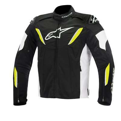 Alpinestars T-Gp R Waterproof Motorcycle Motor Bike Jacket - Black/Wht/Flo Yel