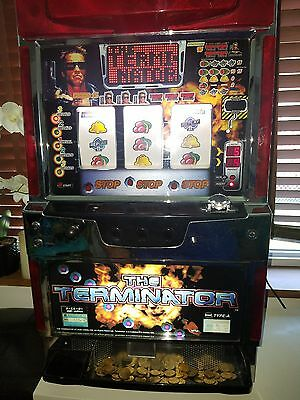 Terminator Pachislo Slot Machine with keys and Tokens