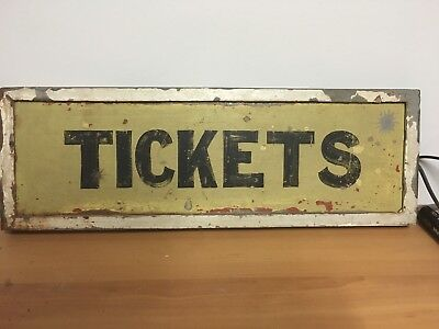 Original Railway Tickets Sign