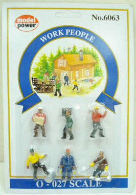 Model Power 6063 Set of 6 Work People - O Scale