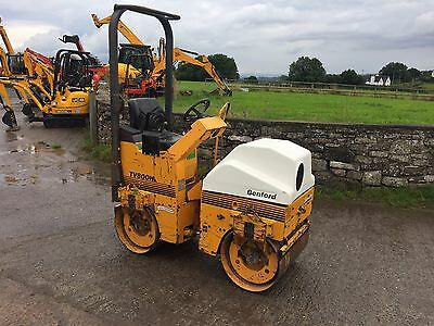* * Benford Tv800H Double Drum Ride On Vibrating Roller  * Mini Digger *