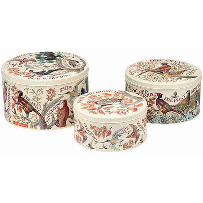 Emma Bridgewater Game Birds Set of 3 Round Cake Tins