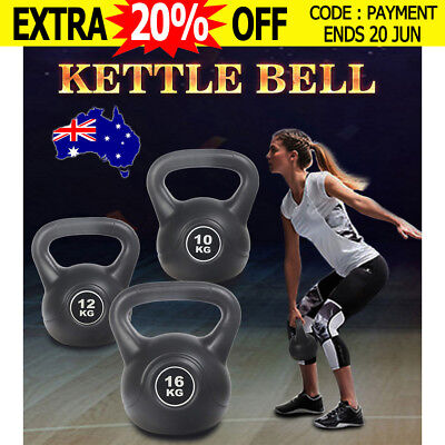 $27 10/12/16 kg Kettle Bell Training Weight Fitness Exercise Kettlebell Dumbell