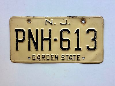 New Jersey 1955-1977 Old License Plate Garage Car Tag Series 2 Man Cave Rustic