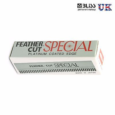 FEATHER CUT Razor Blades Blade Special Platinum Coated Edge - 10 Blades - PMU