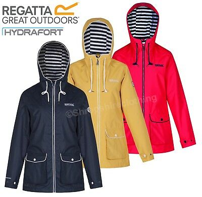 Regatta Womens Bayeur Ladies Wind Waterproof Hydrafort Hooded Jacket