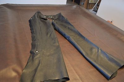 Berman's Womens  Leather Motorcycle Chaps SZ SM   #383