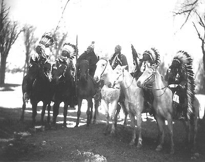 8x10 Photo- Six Tribal Native American Leaders including Geronimo, Quanah Parker