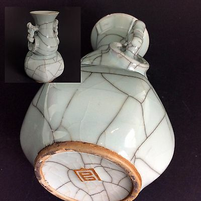 Celadon Vase - Antik - Late Qing - Crackle Glaze - China #7225