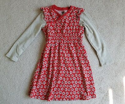 Toddler Girl's TEA COLLECTION  Long Sleeve Wrap Style Dress Size 3