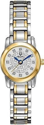 Bulova Women's 98P133 Highbridge Quartz Diamond Accents Two-Tone 20mm Watch