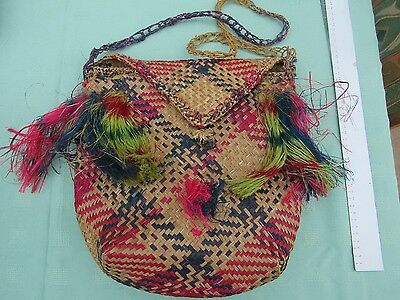 Woven Bag Handmade from natural fibres in Papua New Guinea
