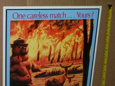 SMOKEY BEAR --- Only You Can Prevent FOREST FIRES --- Sign >>>>>>> WOW
