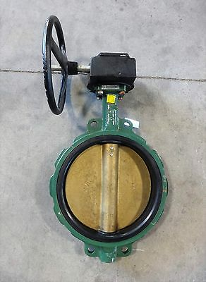 "Center Line 12"" Gear Operated Butterfly Valve, Ductile Iron Body, Alum Brz Disc"