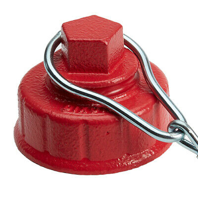 """Heavy Duty 2 1/2"""" Replacement Iron Fire Hydrant Cap with NH/NST Threads"""