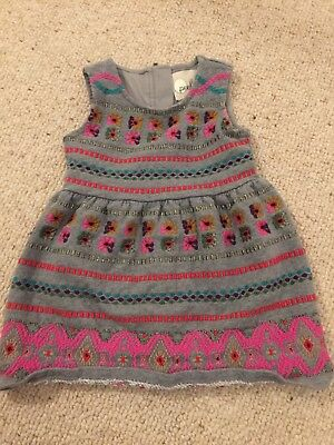 Peek embroidered Baby Girls Dress M Size 6-12months