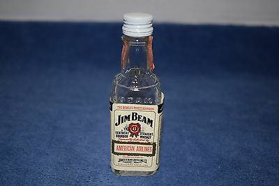 Collectible American Airlines Jim Beam Miniature Whiskey Bottle 1/10 Pint