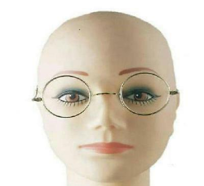 Round Wire Rim Santa Miss Claus Ben Franklin Old Style Specs Costume Glasses