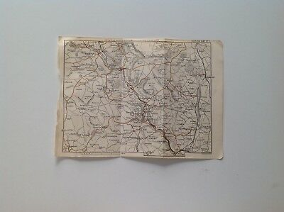 Winster, Matlock, Bakewell, Peak District,1883 Antique Map, Bartholomew Atlas,