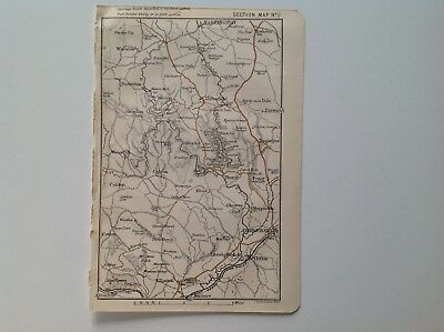 Ashbourne, Ellaston, Calton, Peak District, 1883 Antique Map, Bartholomew Atlas,