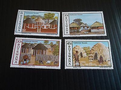 Botswana 1982 Sg 511-514 Traditional Houses   Mnh