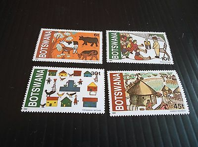 Botswana 1982 Sg 507-510 Childrens Art   Mnh