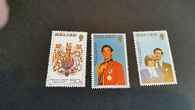 Belize 1981 Sg 617-619  Royal Wedding .mnh