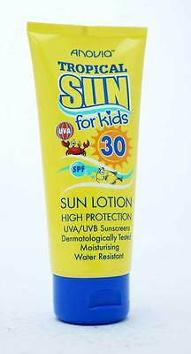 Anovia Kids Tropical Water Resistant Sun Lotion/Cream 65ml Travel Size SPF30