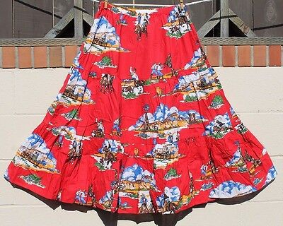 Vintage Jc Penney Perry Sport Rodeo Skirt 18W New Cowgirl Cowboy Western