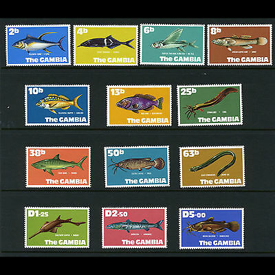 GAMBIA 1971 Fish. 13 Values. SG 271-283. Mint Never Hinged. (AT246)