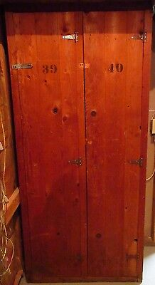 Vintage Wooden Camp Locker