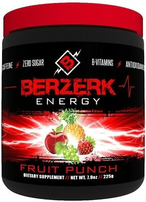 1 Case (18 units) of Berzerk Energy Drink Mix Fruit Punch (30 Servings Each)