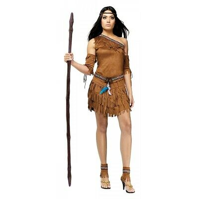 Indian Costume Adult Sexy Pocahontas Native American Halloween Fancy Dress
