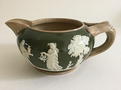 Antique Copeland Late Spode Jasperware Style Split Handle Small Jug