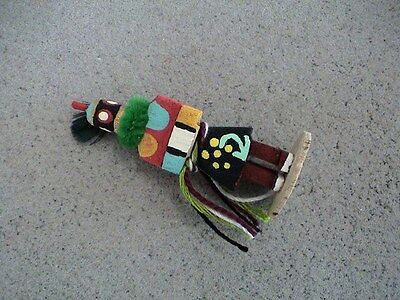 Auth.Native American Indian Mini Zuni Crazy Rattle Kachina by Colleen Parker
