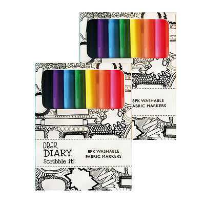 2 X 8Pk Washable Fabric Markers