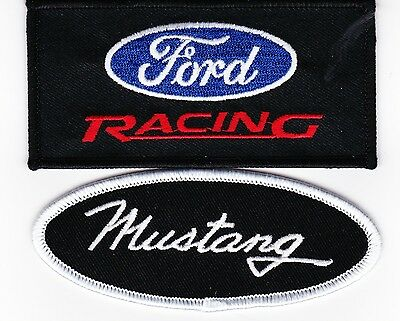 Ford Racing Mustang Sew/iron On Patch Shirt Jacket Embroidered Cobra Car Coyote