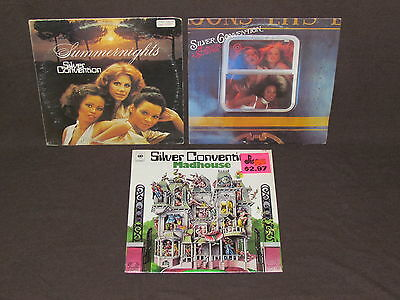 SILVER CONVENTION 3 LP RECORD ALBUMS LOT COLLECTION Madhouse/Summernights/Love