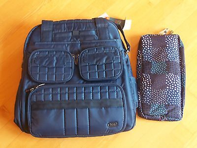LUG Royal Blue/Dots Puddle Jumper Travel Bag with Packable Carry-All NWT