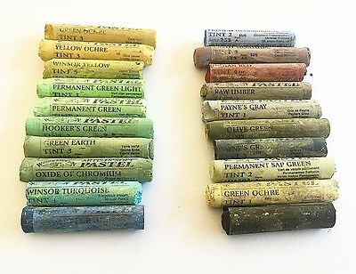 Winsor And Newton 20 Soft Artists Pastels Mixed Lot 923 Slightly Shop Soiled