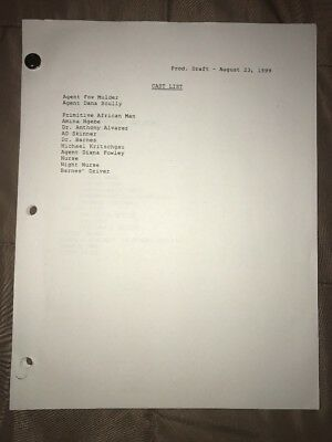 "X-FILES SCRIPT ""The Sixth Extinction"" Original White Production Draft Screenplay"