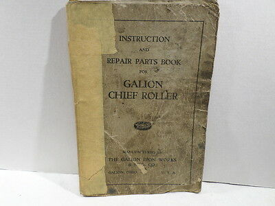 Galion Chief Roller Instruction and Repair Parts Book
