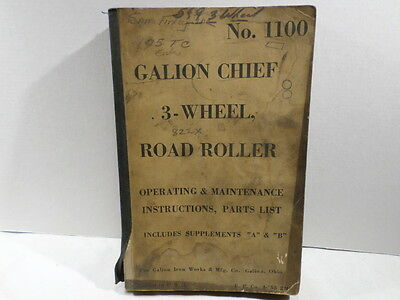 Galion Chief 3 Wheel Roller Instruction and Supplement A B
