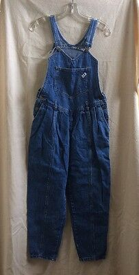 Vintage 1980/90s Guess Jeans Overalls Pleated Blue S/XS Size 2 Grunge Bib-VGUC