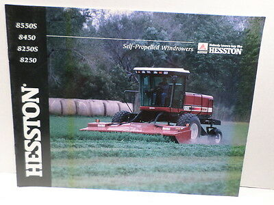 Hesston Brochure Self Propelled Windrowers 8550s 8450 8250s 8250