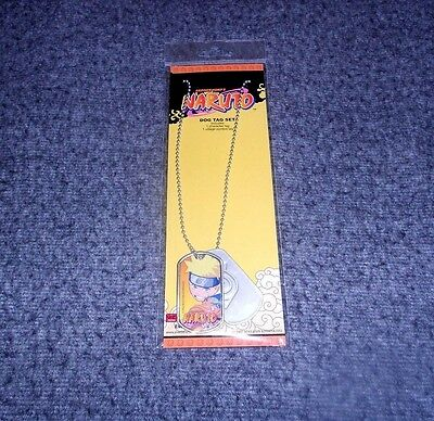 Shonen Jump's Naruto Dog Tag Necklace 2002 New In Package!